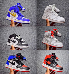 Wholesale Quality Store - Children shoes Retro 1 cheap store Top Quality kids Basketball shoes Wholesale price free shipping sales US10.5C-US3Y