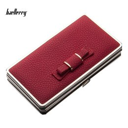 Wholesale Cellphone Clutch - Baellerry Famous Brand Lady Bow Purse Wallet Card Holders Cellphone Pocket Money Bag Clutch Gifts For Women