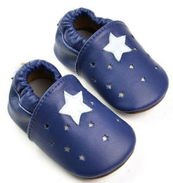 Wholesale Baby Firstwalker - Wholesale- 2016 New star Baby Moccasins Soft Moccs Baby Shoes Newborn Baby firstwalker Anti-slip Genuine Cow Leather Infant Shoes Footwear