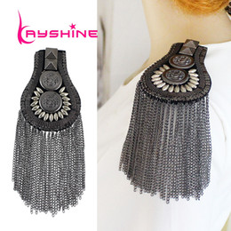 Wholesale 1PC New Arrival Hot Selling Carved Button Flower Tassel Steampunk Brooch Fashion Design