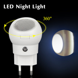 Wholesale Rotating Emergency Lights - Wholesale- 1Pcs 360 Degree Rotating LED Night light Auto Sensor Smart lighting Control lamp 110V-240V Nightlight Bulb For Baby Bedroom Gift