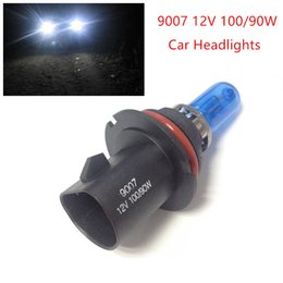 Wholesale Car Headlight White Bulb - New 2pcs 12V 100 90W 9007 Ultra-white Xenon HID Halogen Auto Car Headlights Bulbs Lamp Auto Parts Car Light Source Accessories