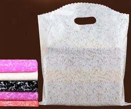 Wholesale black lace jewelry - 2017 New 200pcs lot 5Colors 15X20cm Lace Patterns Plastic Jewelry Gift Bag Jewelry Pouches Bags
