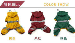 Wholesale Rain Puppy - Free Shipping Pet Rain Coats Puppy Dog Clothes for Small Dogs Waterproof Raincoat Jacket Pet Products Teddy Chihuahua Ropa de Cachorro