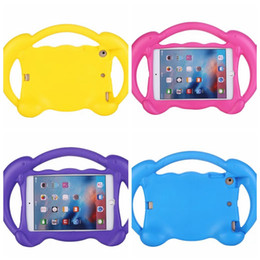 Wholesale Soft Gel Cover For Ipad - Kids Safe EVA Foam Shockproof Soft Silicone Gel Case For Ipad Mini 1 2 3 4 MINI4 7.9'' Tablet Colorful Fashion Dolphin Rubber Cover 10pcs
