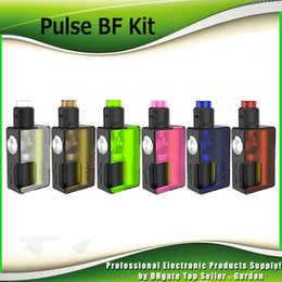 Wholesale Wholesale Black Bottles - Original Vandy Vape Pulse BF Squonk Kits 18650 20700 Box Mod with Pulse 24 RDA 8ml Empty Bottle Atomizer Vandyvape 100% Authentic