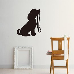 Wholesale Cartoon Puppy Wall Stickers - 57x50cm Cute Pet Dog Puppy Wall Sticker Peel and Stick Removable Art Mural Decal for Home Decoration Children's Bedroom Kids Room