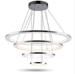 Wholesale Led Ceiling Ring Lights - Minimalist acrylic led chandelier lights Led pendant lights four rings Chandelier Pendant Lamp Ceiling Lamps Fixtures AC85-265V