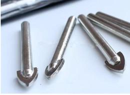 Wholesale glass tile drill - Lowest Price 50pc lot 6.5mm Tungsten Carbide TCT Glass Tile Drill Bit drill bit set