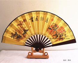 Wholesale Type Shoe Men - Supplies High Quality Folding Fan Cotton-like Lustring Sensu Bamboo Silk Fan To Fake Something Antique Man Fan 8 Inch Amount Will Can Custom