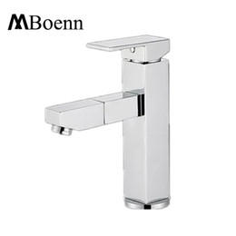 Wholesale Deck Mounted Shower Mixer Taps - Hot Cold Faucets 360 Degree Rotation Pull Out Basin Faucet Mixer Water Tap Brass Chrome Home Shower Contemporary Style