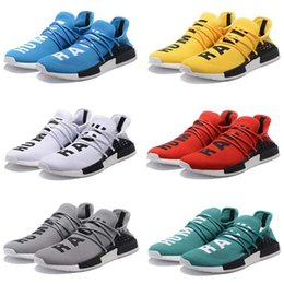 Wholesale Genuine Leather Tassel Boot - Original Pharrell Williams X NMD Human Race Running Shoes NMD Runner NMD men and women Trainers Sneakers Boots Size 36-45for sale