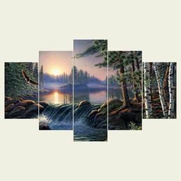 (Без рамки) птица 2 плакаты серии HD холст печати 5 панель стены искусства масляной живописи текстурированные абстрактные фотографии декор гостиная украшения от