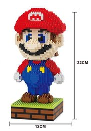 Wholesale Luigi Figure - HC Magic blocks Large Size Mario DIY Building Toys Yoshi Cartoon Luigi Micro Bricks Kids Toy Auction Figures Juguetes Girls Gifts 9003