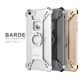 Wholesale Apple Shaped Iphone Stand - Nillkin Barde Metal case Ring Shape Holder Case for iphone 6 6s 7 6plus 7s plus Stand Back Cover bumper Kickstand function