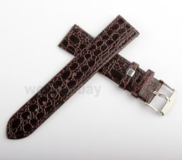 Wholesale Genuine Cow Leather Watch - Wholesale-Durable men Thinner Genuine Leather watch strap for men 20 mm Cow Thinest Watch Bands Vintage Bands Stainless Steel Buckle