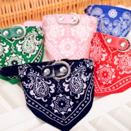 Wholesale Pu Leather Dog Collars - New time-limited bandanas, bows & accessories red pink dog accessories pet products  saliva scarf  pu leather triangular bandage collar