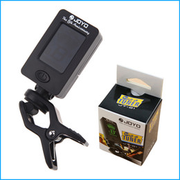 Wholesale Jt Wholesales - JOYO Guitar Bass Tuner JT-01 Mini LCD Clip-on 360 Degree Rotatable guitar Tuners machines for Guitar Bass Violin Ukulele