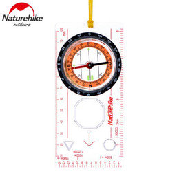 Wholesale cross maps - Wholesale-Naturehike Camping Directional Cross-country Race Hiking Special Compass Baseplate Ruler Map Scale Compass
