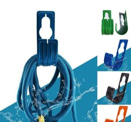 Wholesale Pipe Wall Mount - Garden Wall Mounted Hose Pipe Holder Expanding Hanger Outdoor Rack Flexible