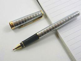 Wholesale Silver Parker Pens - Parker Sonnet Silver Plate 0.5MM Nib Rollerball Pen