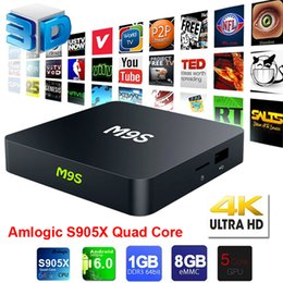Wholesale Home Solutions - M9S Android TV Box Amlogic S905X RAM 1GB ROM 8GB Home Streaming Solution Android 6.0 HDMI2.0 4K Wifi Mini PC Android