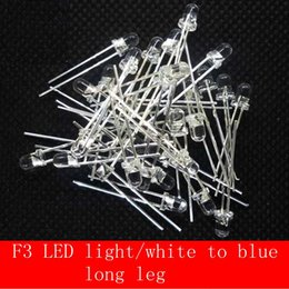 Wholesale Led Diode Blue 3mm - Wholesale- 100PCS 3mm LED Diode Blue Clear Long Leg Diodo 3 MM Light-Emitting Diode Wholesale From