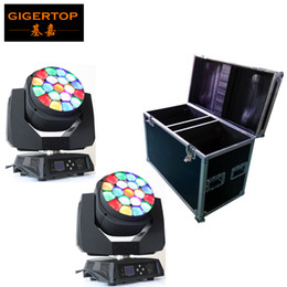 Wholesale Bees Lighting - Flight Case 2in1 Packing with 2pcs lot Big Bee Eye led moving head zoom function 4-60 degree RGBW 4IN1 19*15W Beam effect light TP-L664