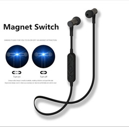 Wholesale Wireless Magnetic Switches - HT3 HT9 Wireless Headphone Bluetooth Earphone Magnetic switch Sports Headsets for iPhone 6S 7 8 Samsung S8 NOTE 8
