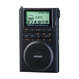 Wholesale Degen Sw Radio - Wholesale-New DEGEN DE1125H Digital Radio Recorder FM Stereo MW SW AM 4GB MP3 E-Book Radio Receiver D2976A