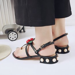 Wholesale Shoes Women Channel - summer women sandals female Women fine with a single shoe channel comfortable flats flip gladiator sandals party wedding shoes