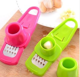 Wholesale Ginger Cooking - 2017 new style Multi Functional Ginger Garlic Grinding Grater Planer Slicer Mini Cutter Cooking Tool Kitchen Utensils Kitchen Accessories