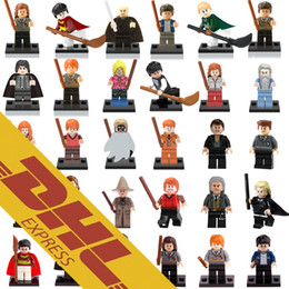Wholesale Blocks Figures - 120pcs Mix Lot Harry Potter Minfig 30 Types Harry Potter Figures Harry Potter Hermione Ron Figure Mini Building Blocks Figures Toy for Kids