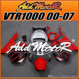 Wholesale Rc51 Fairings - In Stock Addmotor ABS Fairings For Honda VTR1000 RC51 VTR 1000 RC51 2000-2007 00 01 02 03 04 05 06 07 Body Work Racing Red H1014+5Free Gifts