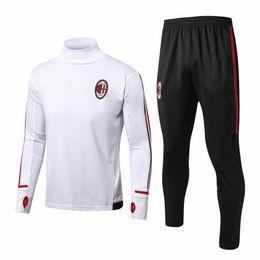Wholesale Football Collar - 2017 AC Milan jersey SUSO soccer jersey AC Milan Tracksuit LAPADULA BONAVENTURA DEULOFEU LOCATELLI Training Suit High collar football shirts