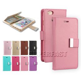 Wholesale Customize Opp Bag - For LG K20 Plus Galaxy S8 MERCURY Coospery Rich Diary PU Leather Soft TPU Wallet Case Card Slot Kickstand Case For LG Stylo 3 LG V3 OPP Bag