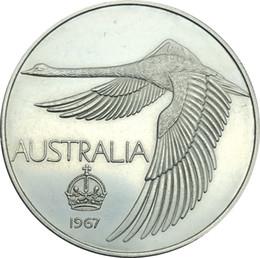 Wholesale Coin Inlay - Australian 1967 1 Dollar, Pattern 'Crown' Swan dollar in Copy Coin