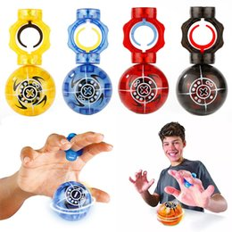 Wholesale Magnetic Finger - New lED Magnetic Ball Finger fidget spinner Magneto Spheres Toy Ball Falshing Speed Magnetic Spheres Ball Gyro Finger Tip Toys B001
