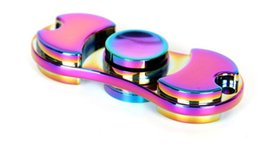 Wholesale Rainbow Choice - 5pcs NEW Toy EDC Hand Spinner Fidget Toy Good Choice For decompression anxiety Finger Toys rainbow color aluminum hand spinner Y010