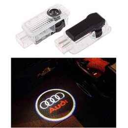 Wholesale Door Light Projector Audi - 2pcs set Car LED Door Welcome Light Laser Shadow led Projector Logo For Most AUDI And Universal Car