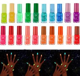 Wholesale New Nail Lacquer - Fashion NEW Luminous Nail Art Polish Varnish Glow in the Dark Nail Polish Lacquer 20 colors Luminous Neon nail varnish