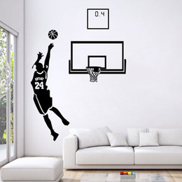 Wholesale Decal For Boys Room - Basketball Men Boys Wall Stickers Sports Wallpaper Wall Decals Art Kids Boys Room Home Decorations free shipping