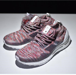 Wholesale Womens Nipples - Top quality popular womens and mens Kith Ultra Boost Mid 1 Multicolor shoes with nipple top quality 2018 sneaker size 36-45 drop shipping