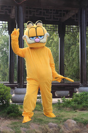 Wholesale Halloween Garfield - Garfield Cat Mascot Costume Fancy Birthday Party Dress Halloween Carnivals Costumes With High Quality For Adult
