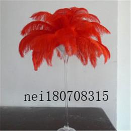 Страус перья шлейф Центральным для свадьбы украшение стола натуральный красный страус перья (много размеров для вас на выбор) от Поставщики натуральные красные перья