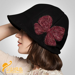 Wholesale Ladies Bow Hats - Wholesale-Lady new beret hat with bow women wool winter autumn hat Europe style fashion ladies Beret Hat with bow B-0801
