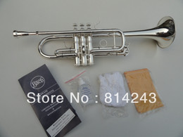Wholesale Bach C Trumpet - Wholesale- Bach Type C Trumpet C180ML239 Surface Silver Small Brass Trumpet Musical Instruments Fast Shipping