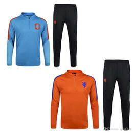 Wholesale Netherlands Training - 17-18 Top quality Netherlands soccer jackets uniforms sportswear 16- 17 Men Training suit football Tracksuits jackets