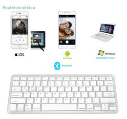 Wholesale Ipad Ios - 2017 Newest Ultra-slim Wireless Bluetooth 3.0 Keyboard For Android for MAC iPad IOS Apple Windows for OS System