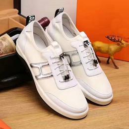 Wholesale H Shoes Men - 2017 Men Casual Shoes Handmade Breathable Comfort H Logo High Quality Brand Shoes For Men 38-44